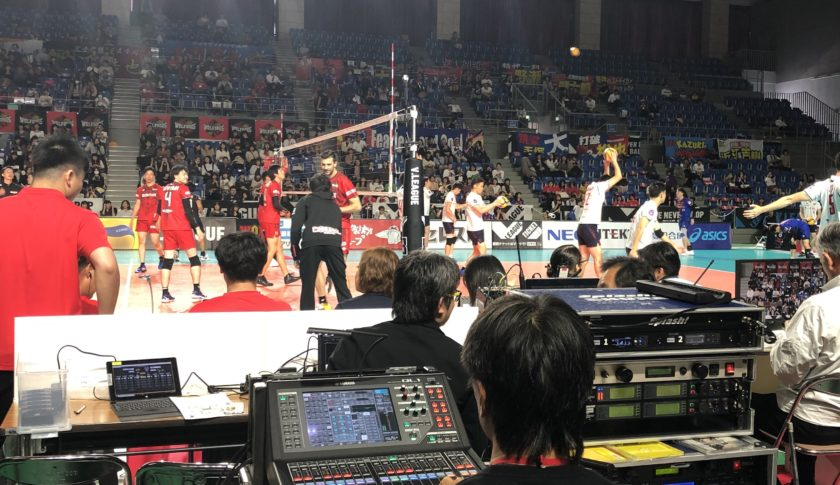 Vリーグ「ウルフドックス名古屋」ホーム試合の演出・運営。